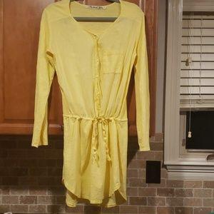 Michael Stars yellow drawstring dress or tunic